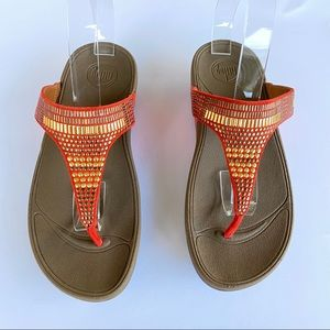 "Fitflop Shoes - Fitflop Aztec Chada Women""s Thong Sandal Size 8"